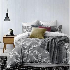 Lenjerie de pat din microfibră DecoKing Calluna, 140 x 200 cm, gri