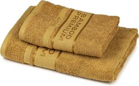 Set prosoape 4Home Bamboo Premium maro deschis,