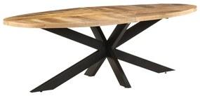 321678 vidaXL Masă de bucătărie, 240x100x75 cm, lemn de mango nefinisat