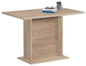 428698 FMD Masă de bucătărie, stejar, 110 cm