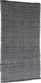 Covor bumbac romburi negru/alb 140x200 cm
