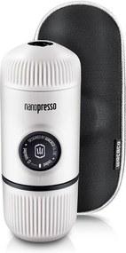Aparat de cafea portabil Wacaco Nanopresso (alb) + carcasă solidă