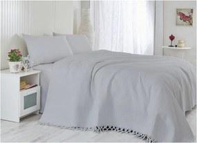Cuvertură din bumbac pentru pat dublu Lipsy, 220 x 240 cm, gri deschis
