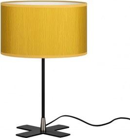 Veioza galben mustar din otel si textil 39 cm Doce Milla Bulb Attack
