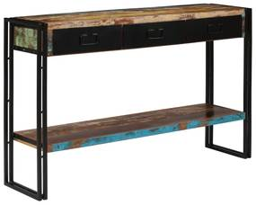 244843 vidaXL Masă consolă, lemn masiv reciclat, 120x30x76 cm