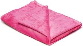 Pătură din micropluș My House, 150 x 200 cm, roz