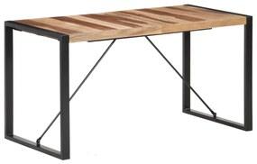 321540 vidaXL Masă de sufragerie, 140x70x75 cm, lemn masiv, finisaj sheesham