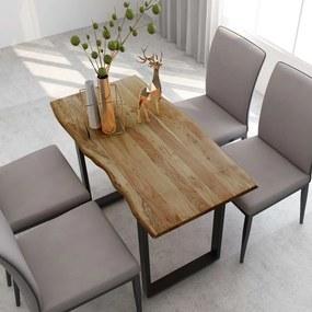 286475 vidaXL Masă de bucătărie, 118 x 58 x 76 cm, lemn masiv de acacia