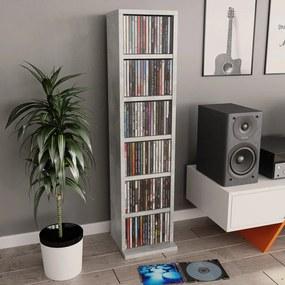 800355 vidaXL Dulap CD-uri, gri beton, 21x20x88 cm, PAL