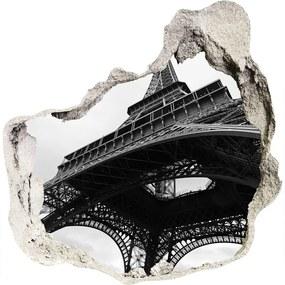 Fototapet un zid spart cu priveliște Turnul Eiffel din Paris
