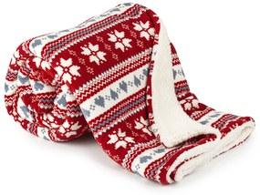 Pătura 4Home din imitaţie de lână, Vis de iarnă, roşu, 150 x 200 cm