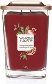 Yankee Lumânare lumânare parfumată  Elevation Holiday Pomegranat pătrata mare 2 fitile