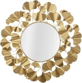 Oglinda de perete Leaf Gold Glam Ø81x2,5 cm