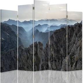CARO Paravan - Panorama Of Mountains 2 | cinci păr?i | reversibil 180x180 cm