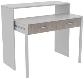 Birou MY DESK cu sertar, extensibil, 88x36x99 cm, alb
