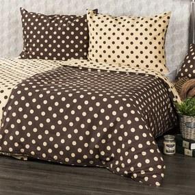 Lenjerie pat 1 pers. 4Home Buline Ciocolată  , 140 x 200 cm, 70 x 90 cm, 140 x 200 cm, 70 x 90 cm