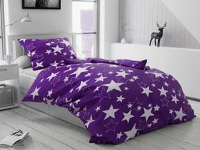 Lenjerie de pat creponată Star mov