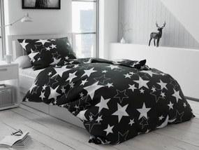 Lenjerie de pat bumbac Star neagră