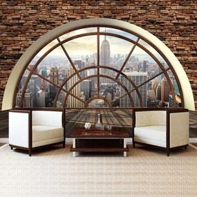 Fototapet - New York - privire din geam (254x184 cm), în 8 de alte dimensiuni noi