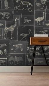 MINDTHEGAP Tapet - Zooarchaeology Anthracite