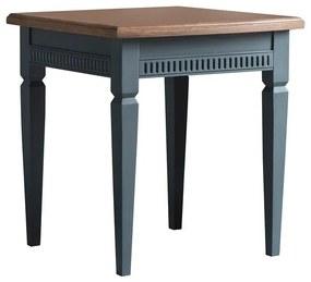 Masa laterala Eliora, lemn, maro/albastru inchis, 55 x 50 x 50 cm