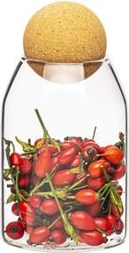 Recipient de sticlă 4Home cu capacul Cork, 700 ml