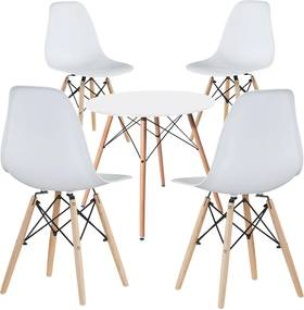 4 buc scaune moderne cu masa pentru bucatarie, 3 culori