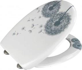 Capac toaleta din duroplast, Astera Alb, l38xA45 cm