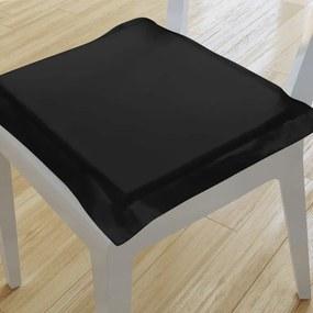Goldea pernă pentru scaun cu ornamente 38x38 cm - negru 38 x 38 cm