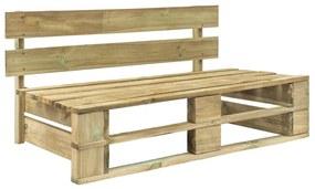 44694 vidaXL Bancă de grădină din paleți, lemn