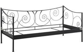 Pat din metal Støraa Isabelle, 90 x 200 cm, negru