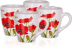 Set căni 500 ml Banquet Red Poppy, 4 buc.