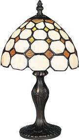 Rábalux Marvel 8072 Lampa de masa de noapte bronz multicolor E14 1x MAX 40W Ø200 x 365 mm