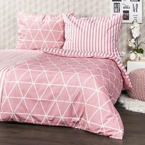 Lenjerie bumbac 4Home Galaxy, roz, 140 x 200 cm, 70 x 90 cm, 140 x 200 cm, 70 x 90 cm