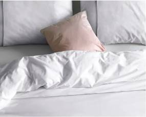 Lenjerie de pat dublu, din micropercal Sleeptime Zensation Monte Carlo, 200 x 220 cm, alb