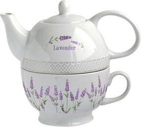 Ceainic si ceasca ceramica 2 in 1 Lavanda