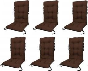 Set Perne pentru scaun de gradina sau sezlong, 48x48x75cm, culoare maro, 6 buc/set