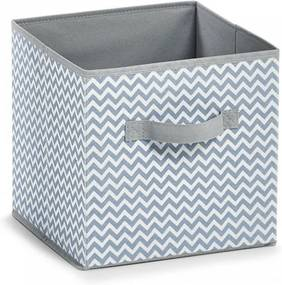 Cos pliabil alb/gri din fleece Storage Box White Square Zeller