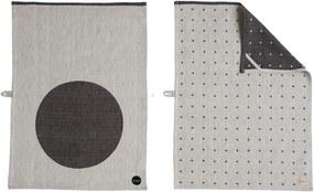 Servet de Bucatarie cu Buline (set) - Bumbac Negru lungime(70cm) x latime(50cm)