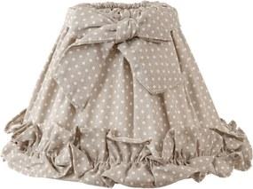 Abajur veioza textil bej cu buline albe Ø 22x15 cm