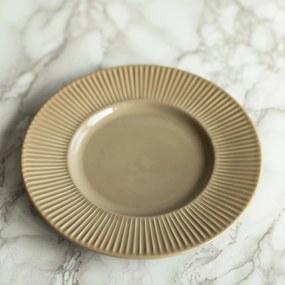 Farfurie pentru desert Molly din ceramica gri 22 cm
