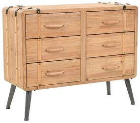245774 vidaXL Dulap cu sertare, lemn masiv de brad, 91 x 35 x 73 cm