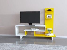 Comoda Tv cu Raft - Simge - Galben