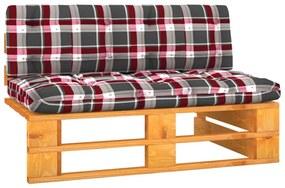 3066529 vidaXL Canapea de mijloc grădină din paleți maro miere lemn pin tratat