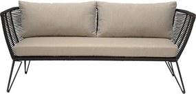 Canapea neagra din metal 175 cm Black Bloomingville