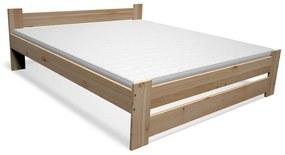 Expedo Pat din lemn masiv STUDENT + somieră GRATIS + saltea spumă MORAVIA 16 cm + somieră, 120x200cm, natural/lac nu