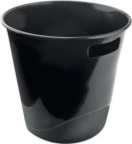Cos hartie plastic Forpus 30431 fara perforatii negru