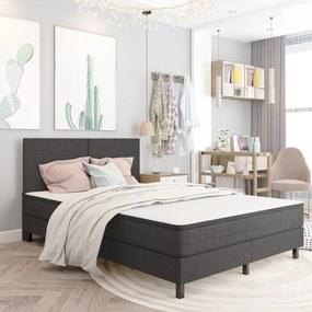 287457 vidaXL Cadru de pat continental, gri, 160x200 cm, material textil