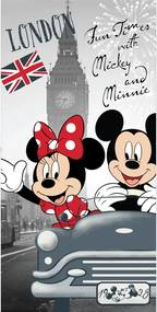 Prosop Mickey and Minnie in London, 70 x 140 cm