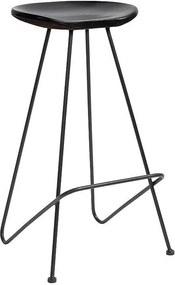 Scaun de Bar din Lemn - Lemn Negru Inaltime (73 cm) x Latime (43 cm) x Lungime (40 cm)